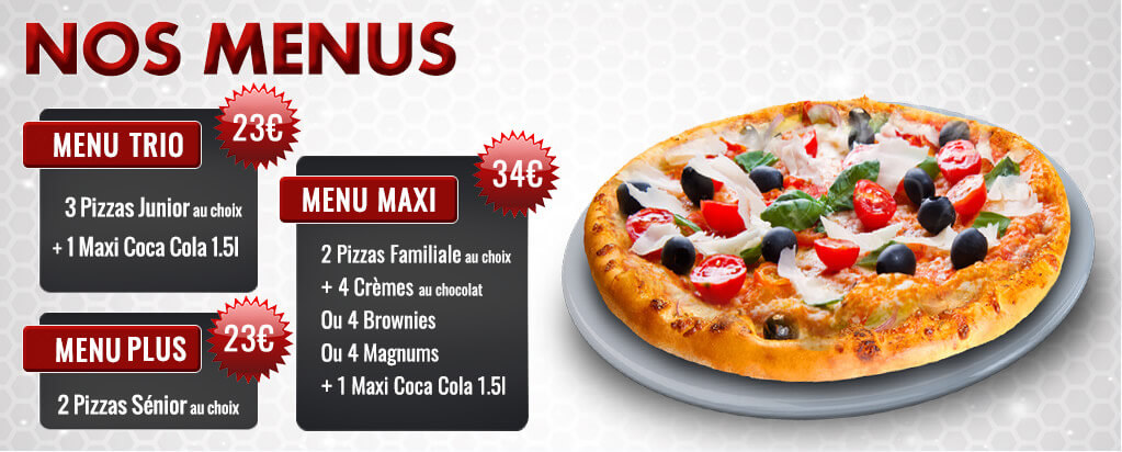 commander menus pizza